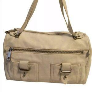 Marc Jacobs Off- White Leather Satchel Handbag